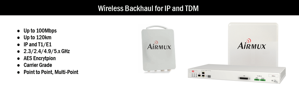 Wireless Backhaul for IP, T1 and E1