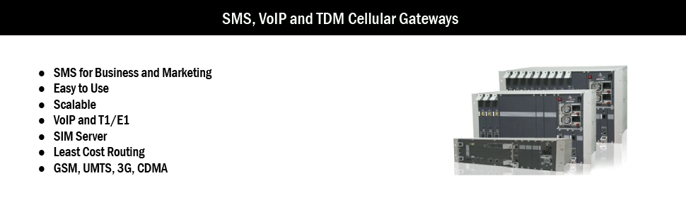 SMS and VoIP Cellular Gateways