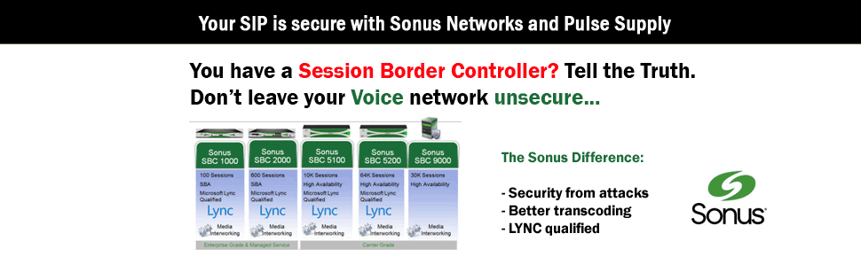 Pulse Supply and Sonus Networks for Session Border Controllers